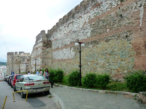 Roman City walls in Thessaloniki