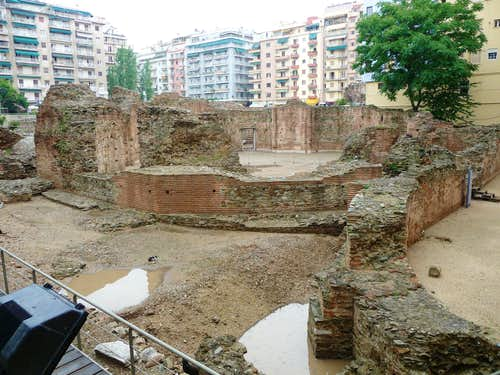 Roman ruins in Thessaloniki