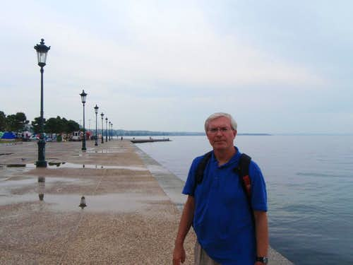 My dad on the waterfront in Thessaloniki