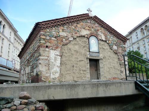 Sixth Century church in an underpass in Sofia