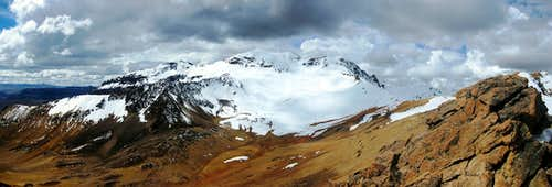 Nevado Huarancante panorama