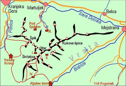 A self-made map of Martuljek...