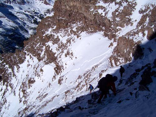 Descending the Upper Ampitheater