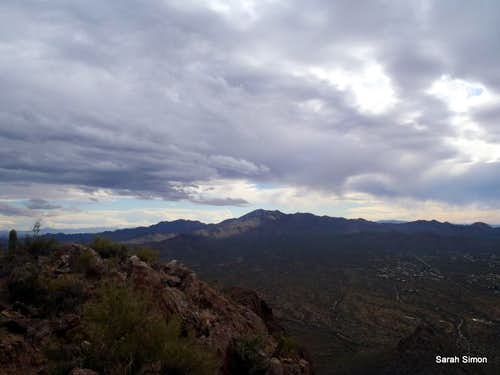 Moody clouds over Tucson Mountains