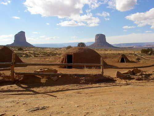 Navajo traditional hogan