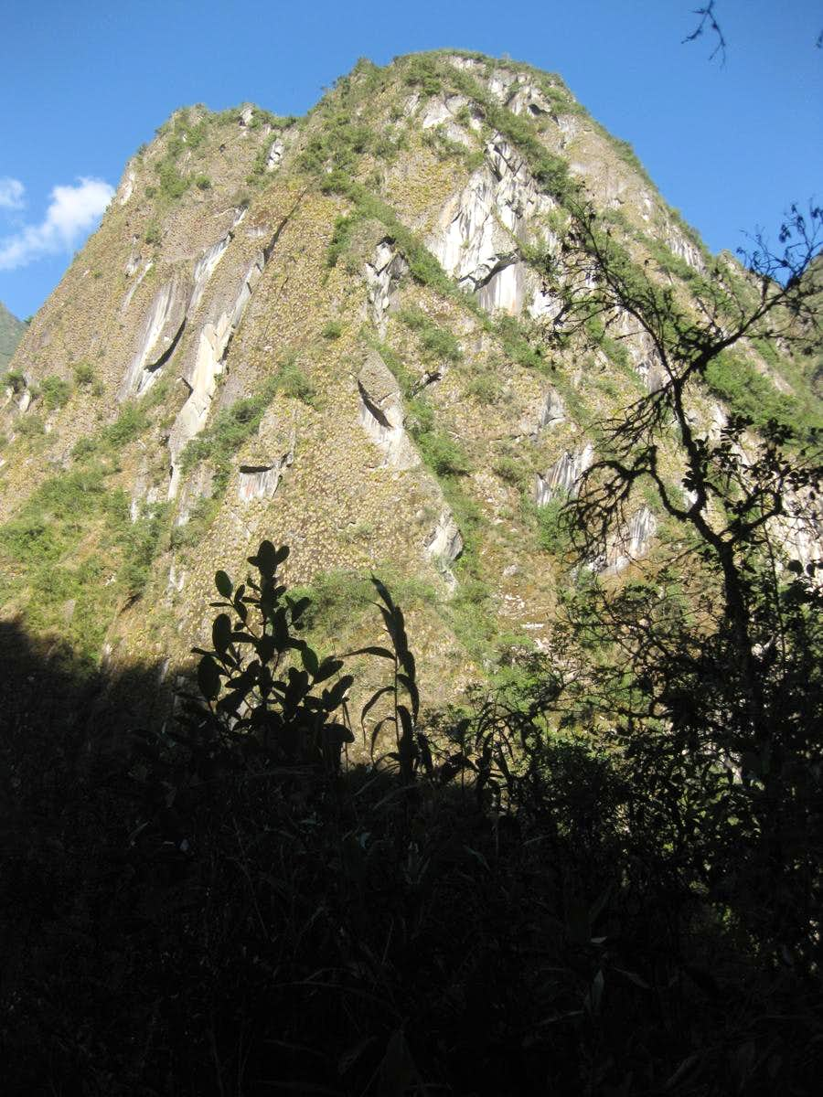 Steep hill in the Cordillera Urubamba