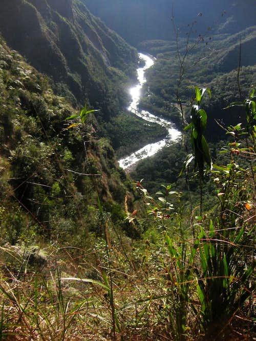 Rio Urubamba from high on Putucusi