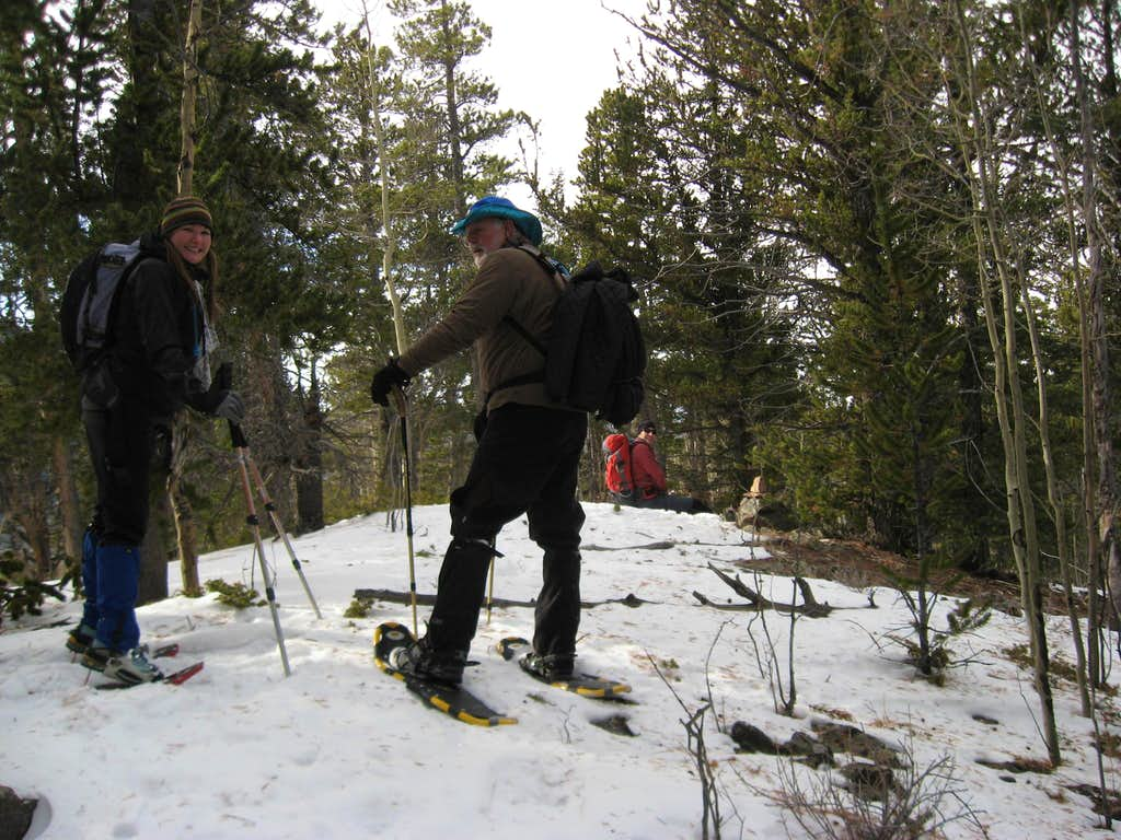 Snowshoe summit