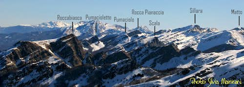 Appennino Parmense Orientale - View on Central Peaks