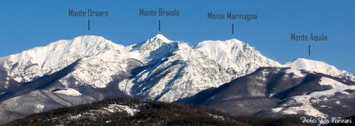 Appennino Parmense Orientale - View from SW