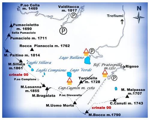 Appennino Parmense Orientale Map