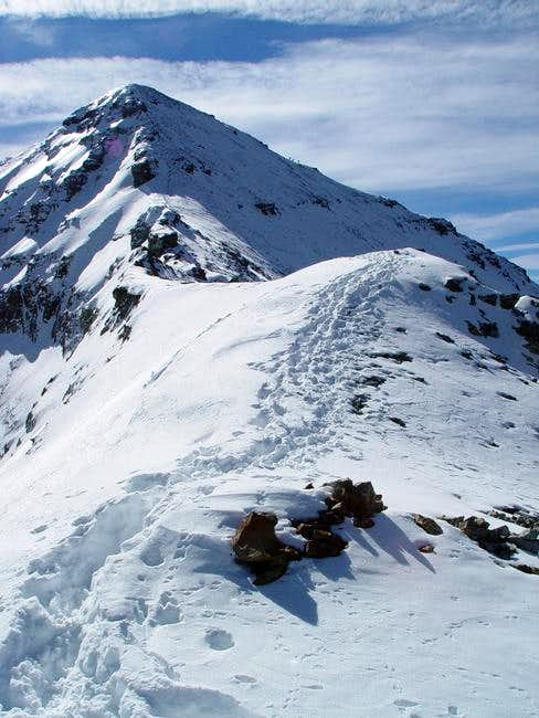 Ascent up the Northwest Ridge.