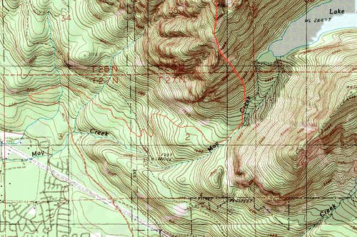 Zekes Peak Topographic Map