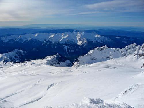 Looking down Mount Baker