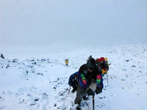 Working our way up Orizaba at...