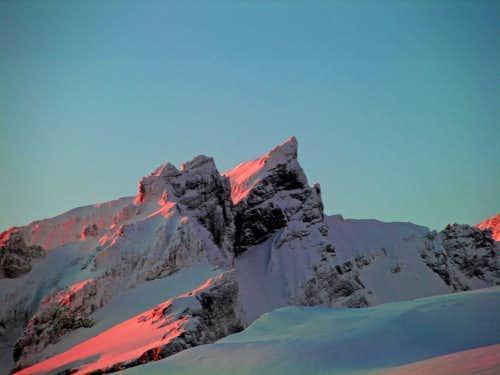 Seward Peak during Sunset