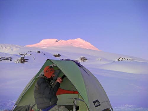 Our Camp on Mount Baker