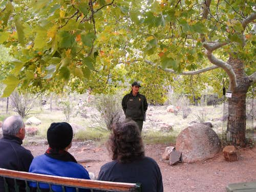 Ranger talk on Phantom Ranch