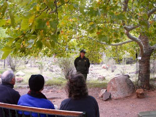 Ranger talk on Phantom Ranch