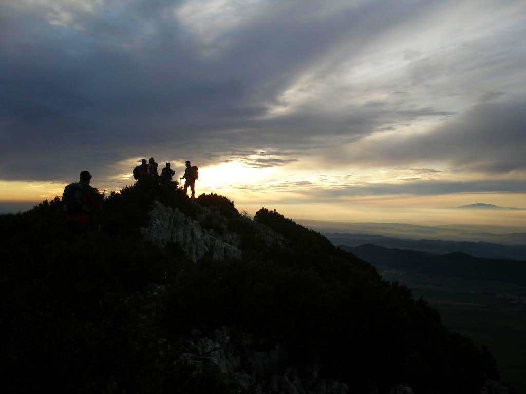 At the summit of Peña Gallet (1158 m)