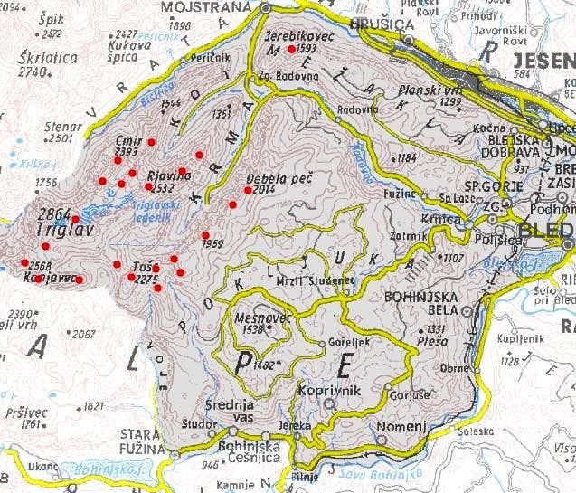 Triglav subgroup map