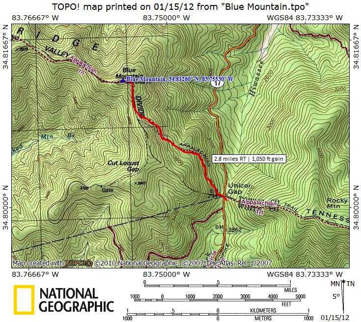 Blue Mountain Map