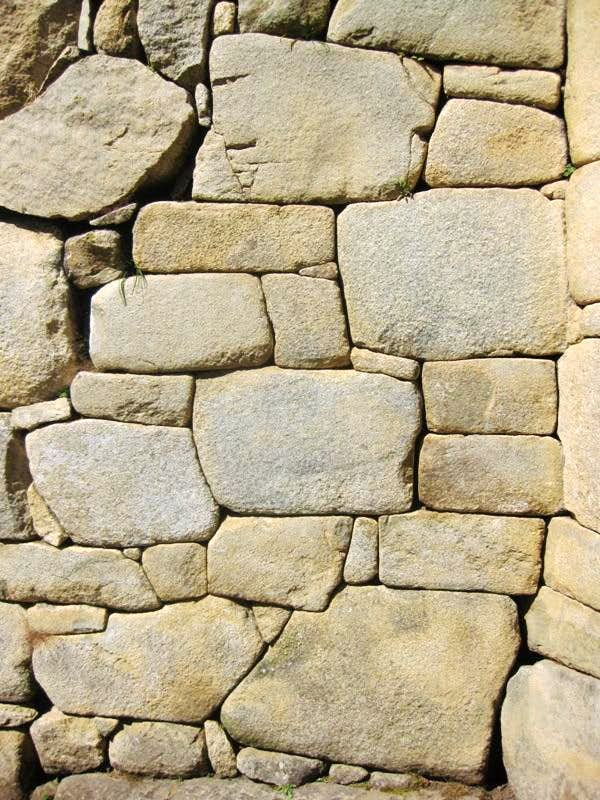 Ancient stone work at Machu Picchu