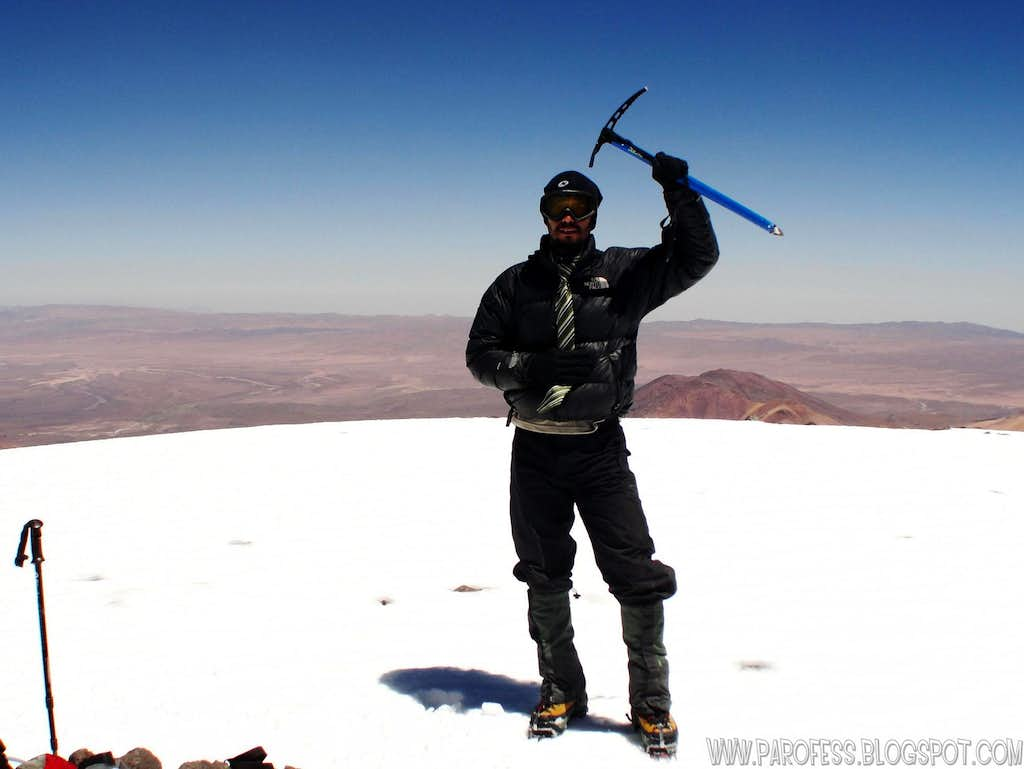 Aucanquilcha summit: 20262ft high