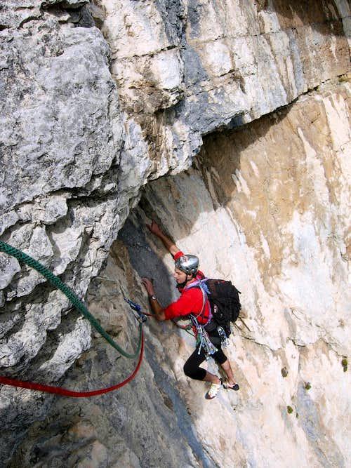 Cima alle Coste  Climbing Martini-Tranquillini Route