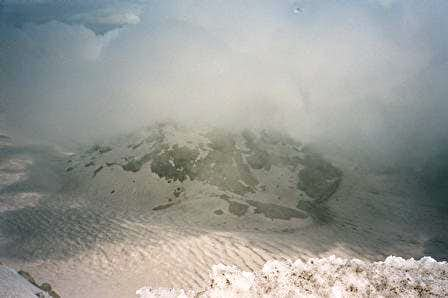 View of Mt. St. Helens Crater...