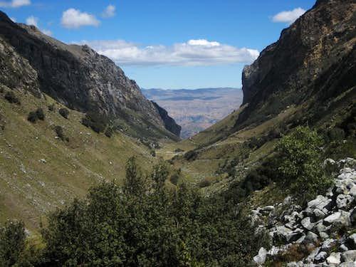 Looking down Quebrada Llaca