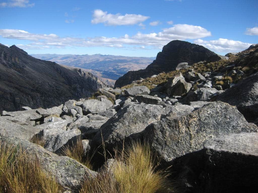 View towards the Cordillera Negra