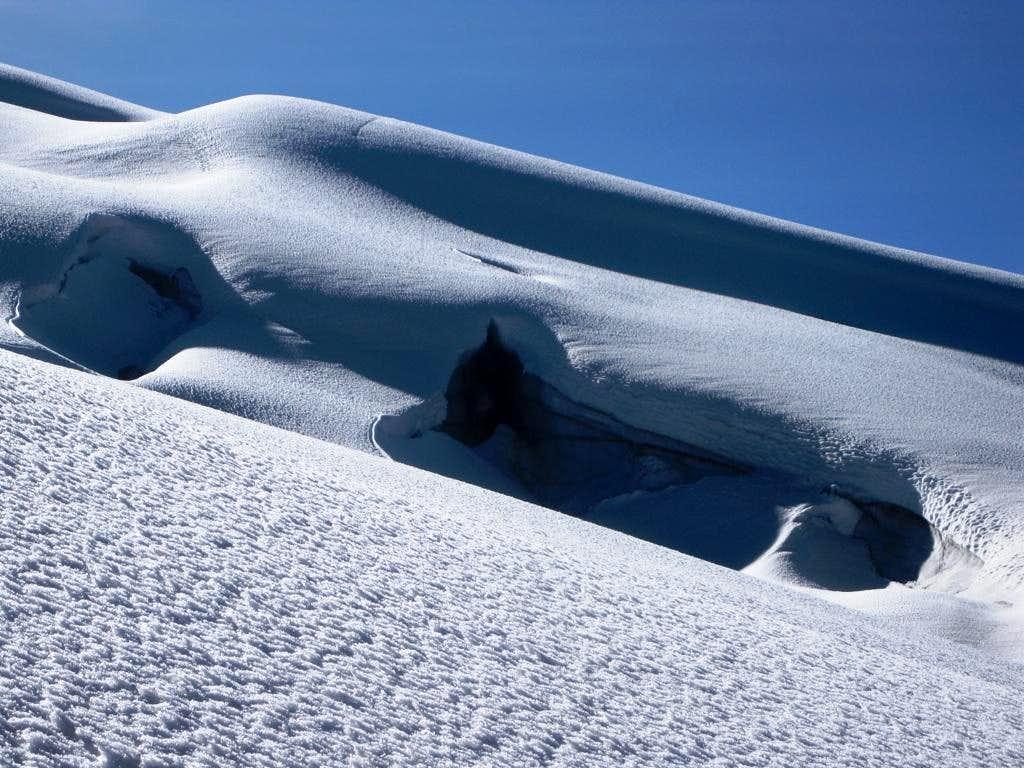 Holes in the glacier
