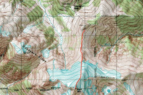 Ruth Mountain Topographic Map