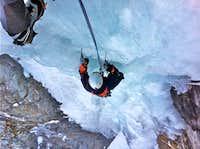 Ice climbing - Cascade de Brucholey