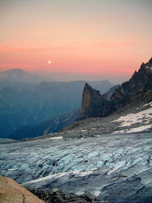 Sunset on Petit Clocher du Portalet