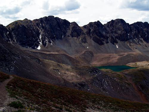 Stone Lake from Handies Southwestern Slopes