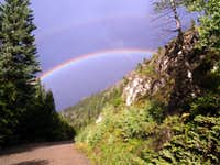 Rainbow over Henson Creek Road