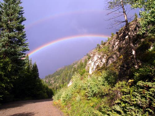 Rainbow over Henson Creek Road