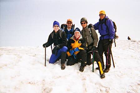Summit of St. Helens with...