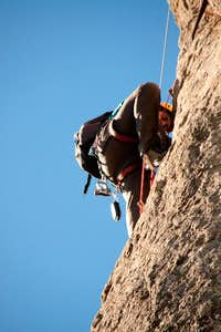 Climber on Roque Nublo
