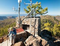 Fire lookout on Montaña de Sandara
