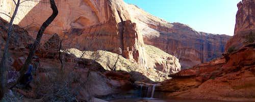 Canyon walls and waterfalls