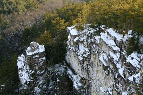 Devil\'s Pulpit in Winter
