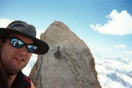 The summit monolith, of...