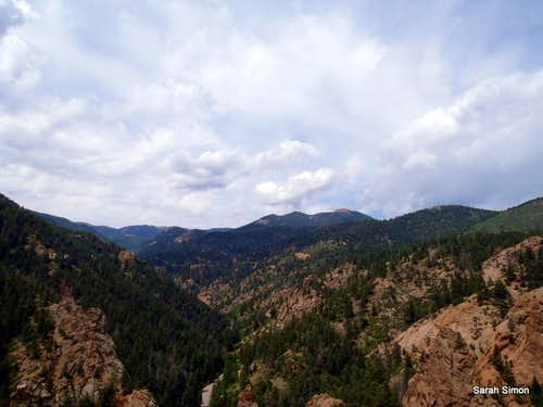 Up-canyon scenery