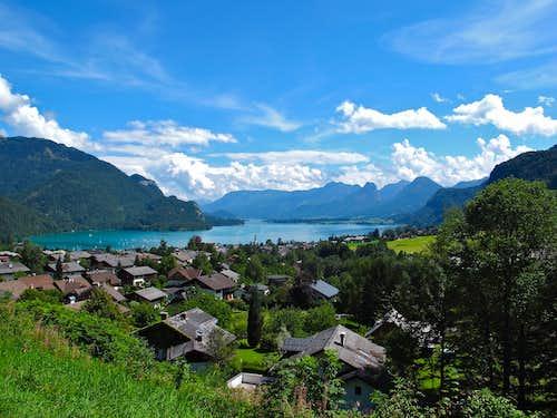 View to Lake Wolfgangsee