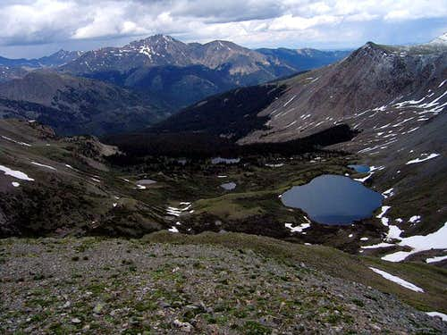 Mount Yale and the Ptarmigan Lakes