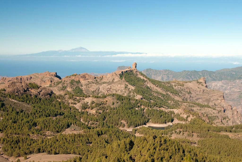 Summit view El Campanario: Tenerife above Roque Nublo