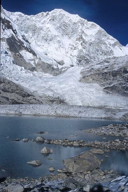 Baruntse SW face seen from...